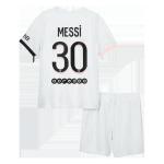 PSG Messi #30 Away Jersey Kit 2021/22 Kids(Jersey+Shorts)
