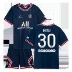 PSG Messi #30 Home Jersey Kit 2021/22 Kids(Jersey+Shorts)