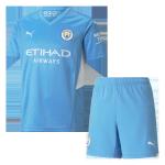 Manchester City Home Jersey Kit 2021/22 Kids(Jersey+Shorts)