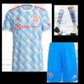 Manchester United Away Jersey Kit 2021/22 (Jersey+Shorts+Socks)