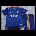 Real Madrid Away Jersey Kit 2021/22 Kids(Jersey+Shorts)
