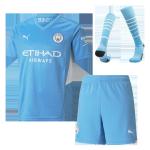 Manchester City Home Jersey Kit 2021/22 (Jersey+Shorts+Socks)