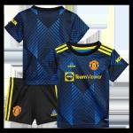 Manchester United Third Away Jersey Kit 2021/22 Kids(Jersey+Shorts)
