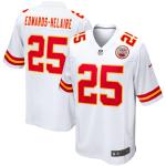 Kansas City Chiefs EDWARDS-HELAIR #25 Nike White Player Game Jersey