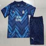 Marseilles Away Jersey Kit 2021/22 Kids(Jersey+Shorts)