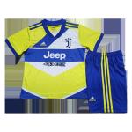 Juventus Third Away Jersey Kit 2021/22 Kids(Jersey+Shorts)