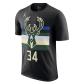 Milwaukee Bucks Giannis Antetokounmpo #34 NBA Jersey Nike Black