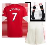 Manchester United RONALDO #7 Home Jersey Kit 2021/22 (Jersey+Shorts+Socks)