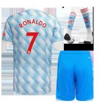 Manchester United RONALDO #7 Away Jersey Kit 2021/22 (Jersey+Shorts+Socks)