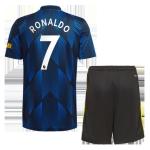 Manchester United RONALDO #7 Third Away Jersey Kit 2021/22 (Jersey+Shorts)