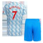 Manchester United RONALDO #7 Away Jersey Kit 2021/22 (Jersey+Shorts)