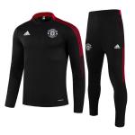 Manchester United Sweatshirt Kit 2021/22 - Kid Black (Top+Pants)