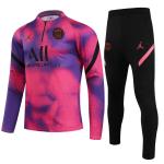 PSG Sweatshirt Kit 2021/22 - Kid Pink&Purple (Top+Pants)