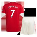 Manchester United RONALDO #7 Home Jersey Kit 2021/22 (Jersey+Shorts)