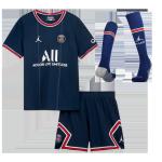 PSG Home Jersey Kit 2021/22 Kids(Jersey+Shorts+Socks)