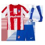 Atletico Madrid Home Jersey Kit 2021/22 Kids(Jersey+Shorts+Socks)