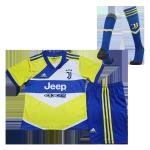 Juventus Third Away Jersey Kit 2021/22 Kids(Jersey+Shorts+Socks)