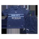 Manchester City Third Away Jersey Kit 2021/22 Kids(Jersey+Shorts)