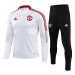 Manchester United Sweatshirt Kit 2021/22 - Kid White (Top+Pants)