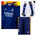 Real Madrid Away Jersey Kit 2021/22 Kids(Jersey+Shorts+Socks)