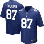 New York Giants SHEPARD #87 Nike Royal Blue Game Jersey
