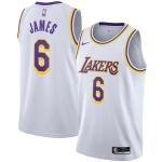 Los Angeles Lakers LeBron James #6 NBA Jersey Swingman 2020/21 Nike White - Association