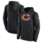 Chicago Bears Nike Charcoal 2021 NFL Crucial Catch Therma Pullover Hoodie