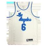 Los Angeles Lakers Lebron James #6 NBA Jersey Swingman Nike White - Classic