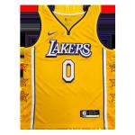 Los Angeles Lakers Westbrook #0 NBA Jersey Swingman Nike Yellow - City