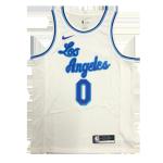 Los Angeles Lakers Westbrook #0 NBA Jersey Swingman Nike White - Classic