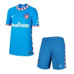 Atletico Madrid Third Away Jersey Kit 2021/22 Kids(Jersey+Shorts)