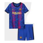 Barcelona Third Away Jersey Kit 2021/22 (Jersey+Shorts)