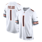 Chicago Bears FIELDS #1 Nike White Game Jersey