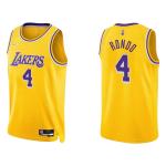 Los Angeles Lakers Rajon Rondo #4 NBA Jersey Swingman Nike Gold - Icon