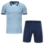 Atletico Madrid Style Customize Team Light Blue Soccer Jerseys Kit(Shirt+Short)